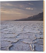 Badwater Salt Flats 1 Wood Print