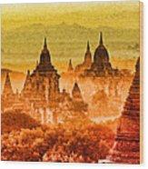 Bagan Pagodas Wood Print