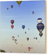 Balloon Fiesta Wood Print