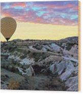 Ballooning At Sunrise No 2 Wood Print