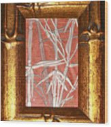 Golden Bamboo Wood Print