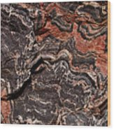 Banded Gneiss Rock Wood Print