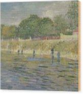 Bank Of The Seine Paris, May - July 1887 Vincent Van Gogh 1853 - 1890 Wood Print