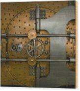 Bank Vault Door Exterior Wood Print