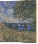Banks Of The Seine Wood Print
