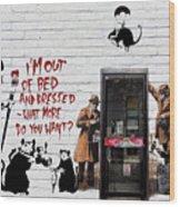 Banksy - The Tribute - Rats Wood Print