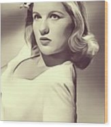Barbara Bel Geddes, Vintage Actress Wood Print