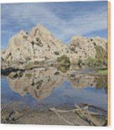 Barker Dam Wood Print