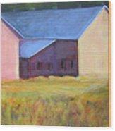 Barn Across The Road Wood Print
