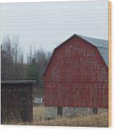 Barn And Shed Wood Print