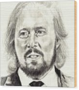 Barry Gibb Portrait Wood Print