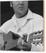 Barry Sadler With Guitar 3 Tucson Arizona 1971 Wood Print