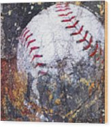Baseball Art Version 6 Wood Print