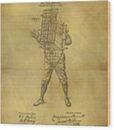 Baseball Catcher's Mask Patent Wood Print
