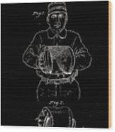 Baseball Glove Patent 1905 Wood Print