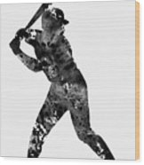 Baseball Player Wood Print
