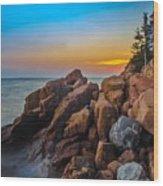 Bass Harbor Lighthouse Maine Wood Print