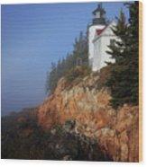 Bass Harbor Lighthouse, Acadia National Park Wood Print