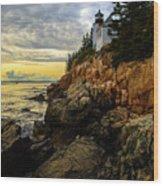 Bass Harbor Lighthouse Wood Print