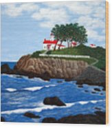 Battery Point Lighthouse Wood Print