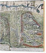 Battle Of Lake George, 1755 Wood Print