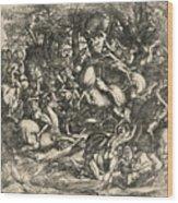 Battle Of Nude Men Wood Print