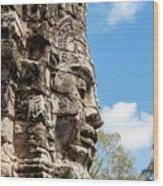 Bayon Temple, Anghor Wood Print
