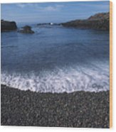 Beach At Point Lobos Wood Print by Stan and Anne Foster