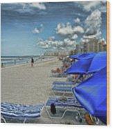 Beach Holiday Wood Print