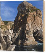 Beach In Sintra Natural Park Wood Print