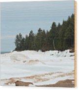 Beach Of Ice Wood Print