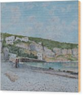 Beach Of Sejanus And Punta Scutolo Wood Print