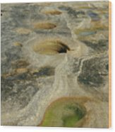 Beach Rock Formation Wood Print