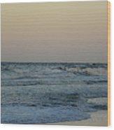 Beach Sunset-2 Wood Print