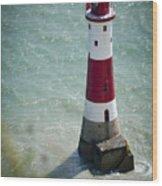 Beachy Head Lighthouse. Wood Print