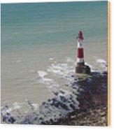 Beachy Head Lighthouse Wood Print