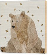 Bear Grizzly  Wood Print
