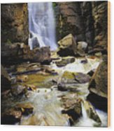 Beartooth Falls Wood Print