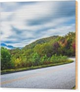 Beautiful Autumn Landscape In North Carolina Mountains Wood Print