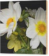 Beautiful Autumn White Flowers Wood Print