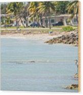 Beautiful Beach And Ocean Scenes In Florida Keys Wood Print