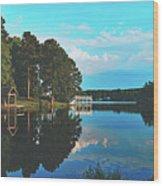 Beautiful Bunn Lake - Zebulon, North Carolina Wood Print