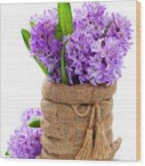Beautiful Hyacinths Wood Print