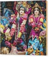 Beautiful Image Of Krishna And Radhe From Boise Hare Krishna Temple Wood Print