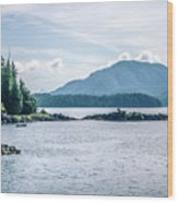 Beautiful Landscape In Alaska Mountains  Wood Print