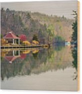 Beautiful Landscape Near Lake Lure North Carolina Wood Print