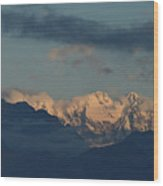 Beautiful Scenic View Of The Mountains In Italy  Wood Print