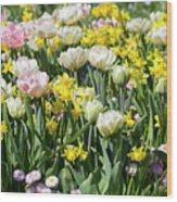 Beautiful Spring Flowers Wood Print