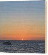 Beautiful Sunset At Redondo Beach Wood Print