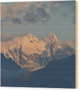 Beautiful View Of The Dolomites Mountains In Italy  Wood Print